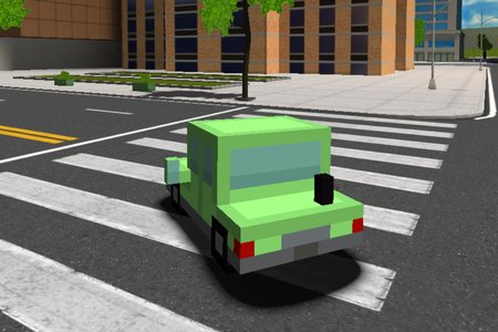 Blocky Cars in Real World